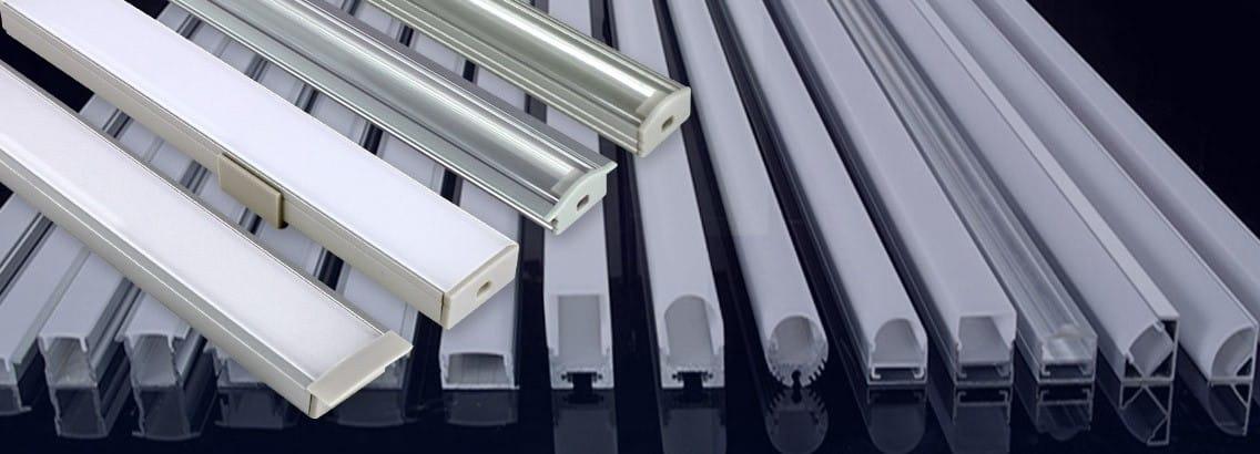 Tous les profilés pour ruban LED sont chez Byled®, à encastrer ou en applique, pour rubans LED blancs comme RGB, de 4,8 Watts à 28,8 Watts